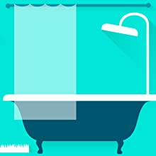 tub icon with shower curtain