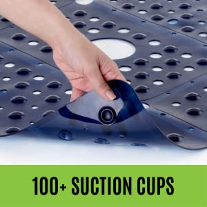 extra large shower stall mat with suction cups