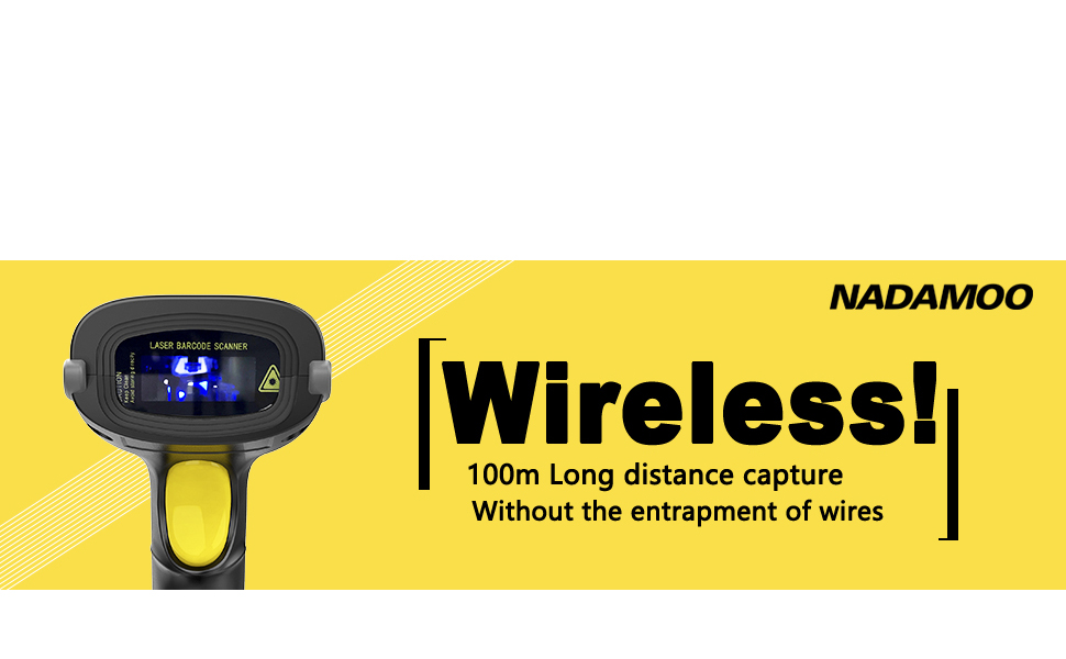 bar code reader usb wireless cordless warehouse supermarket retail