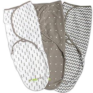 Three beautiful swaddle designs by Ziggy Baby