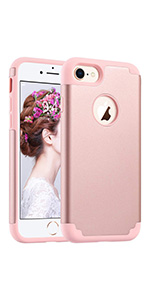 iPhone 7/8 case rose gold for girls women