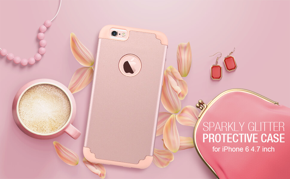iPhone 6 6s case rose gold for girls women