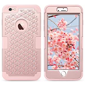 Slim Hybrid Hard PC Soft Silicone Bumper Protective Phone Case Cover for iPhone 6S Plus/6 Plus