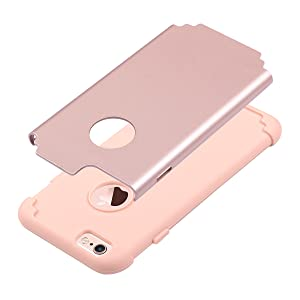 iphone 6 6s case hybrid slim dual layer design protective cover for girls women