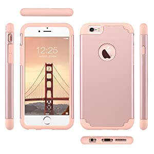 iphone 6 6s case rose gold for girls women slim protective cover