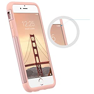 iphone 6 6s case for girls women raised bevel protects the screen and camera
