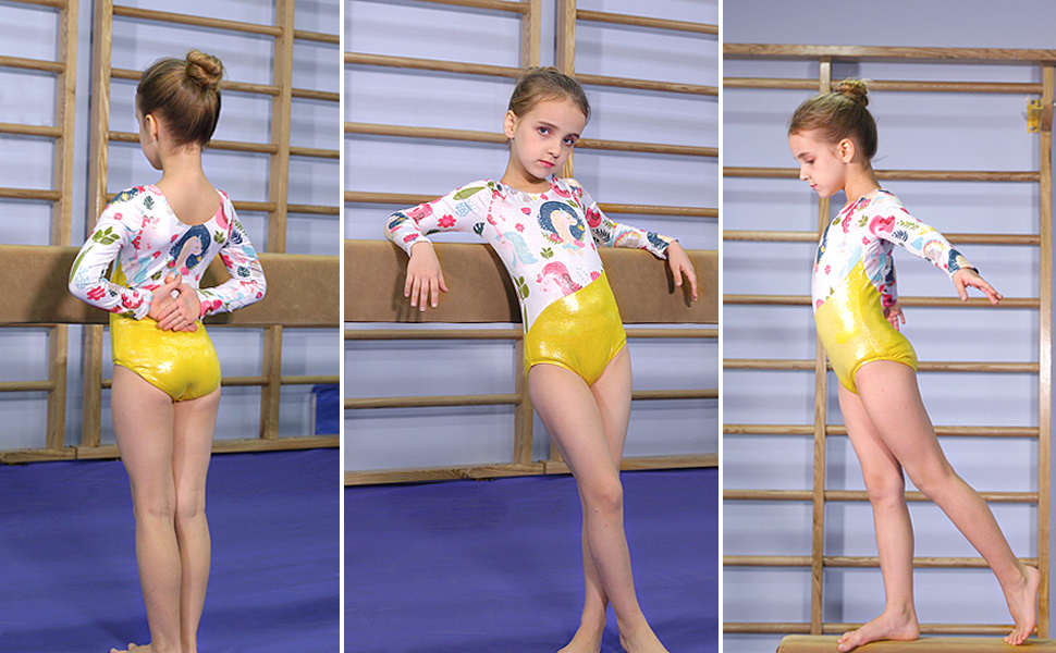 Girls Toddler Gymnastics Leotard 18 month 6 Gymnastics Gift 2T 3T Dance Ballet Blue Gold Leotard 8 Tank Leotard 12 month 4T 5