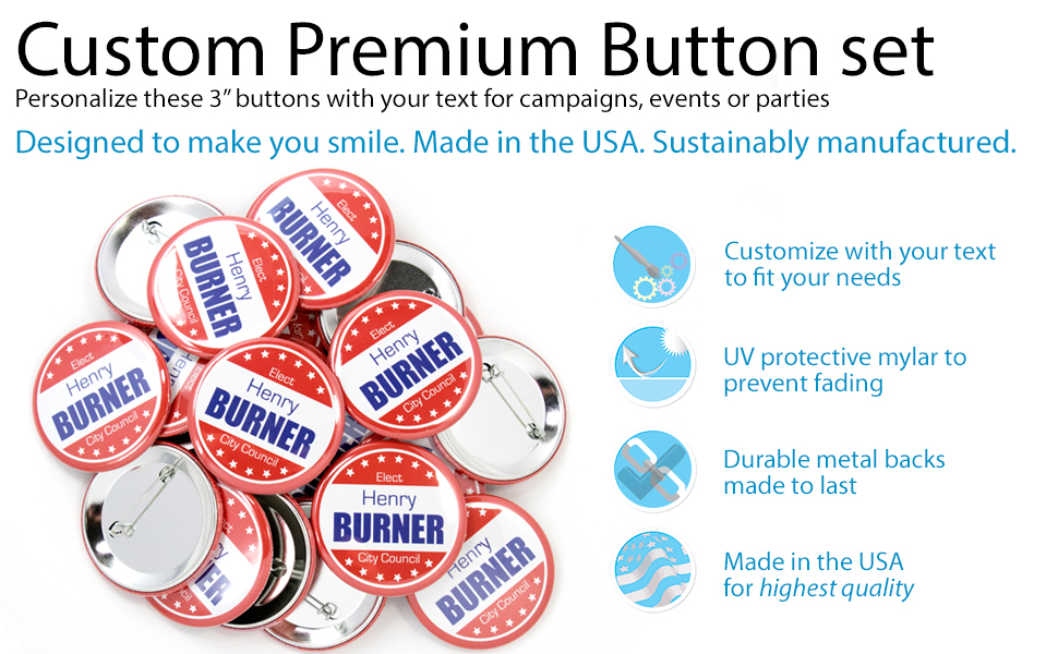 3 PERSONALIZE BUTTONS