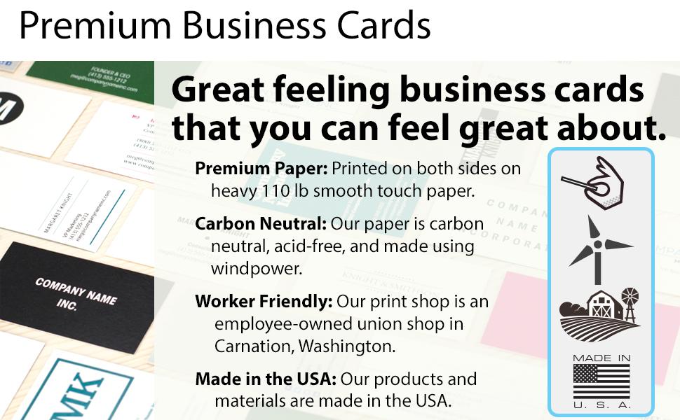 Amazon.com : Buttonsmith Custom Premium Business Cards - Double ...
