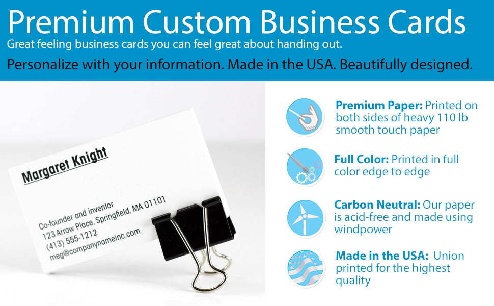 Amazon buttonsmith custom premium business cards full color read more colourmoves
