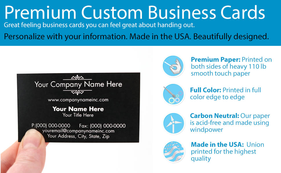 Amazon buttonsmith custom premium business cards double read more colourmoves