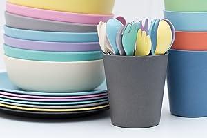 Why Choose Bamboo Dinnerware? & Amazon.com : Bobou0026Boo Bamboo 5 Piece Childrenu0027s Dinnerware Pacific ...