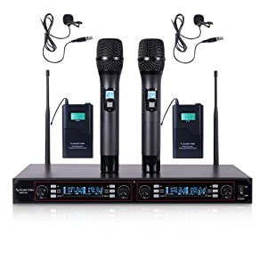 200-Channel Rack Mountable Professional UHF Wireless Microphone System with Metal NESO-U4HL
