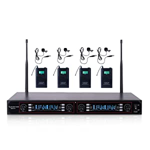 200-Channel Rack Mountable Professional UHF Wireless Microphone System with Metal NESO-U4LL