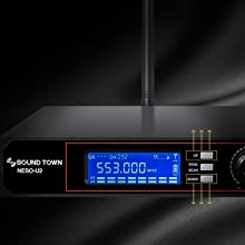 SOUND TOWN NESO SERIES 200 CHANNEL UHF SELECTABLE FREQUENCIES