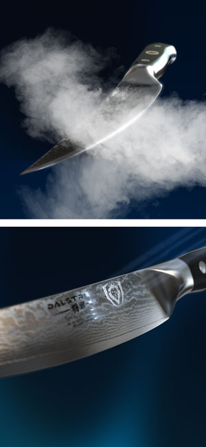 DALSTRONG Fillet Knife - Shogun Series -Damascus - Japanese AUS-10V Super Steel - Vacuum Heat Treated - 6