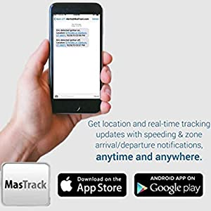 MasTrack- Premium Car GPS Tracker W/No Monthly Fee | Track On Computer  Smartphone | Free 1 Year Premium Plan| Track Fleet Monitoring, Teens,  Family|