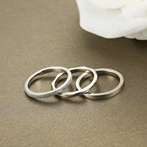 Boruo 925 Sterling Silver Ring Plain Dôme Comfort Fit Wedding 2 mm Band Taille 4-12