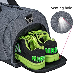 Amazon Com Kuston Sports Gym Bag With Shoes Compartment Travel