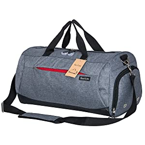 e2d35797ea Amazon.com  Kuston Sports Gym Bag with Shoes Compartment Travel ...