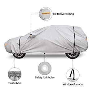 For Infiniti QX56 4 Layer Car Cover Fitted Water Proof Outdoor Rain Snow Sun