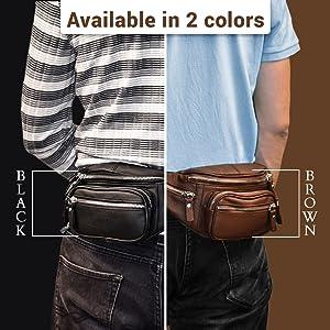 Hip Bag Fanny Pack in Dark Chocolate Brown Leather The Bogot\u00e1