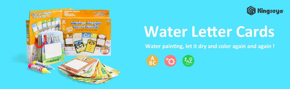 Amazon.com: Kingseye – Tarjeta de libro de pintura al agua ...