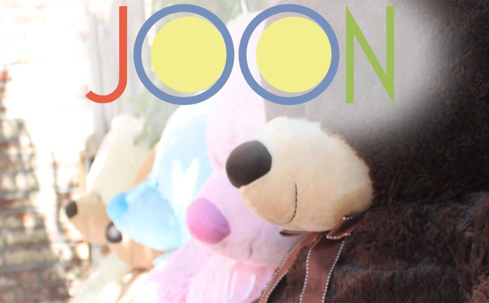 amazon com joon huge teddy bear tan toys games