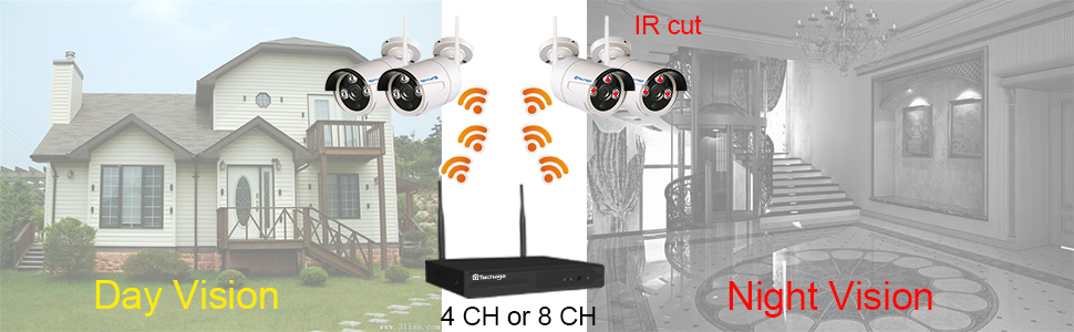 Techage 720P WIFI CCTV Camera System