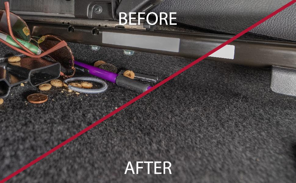 car floor underneath seat