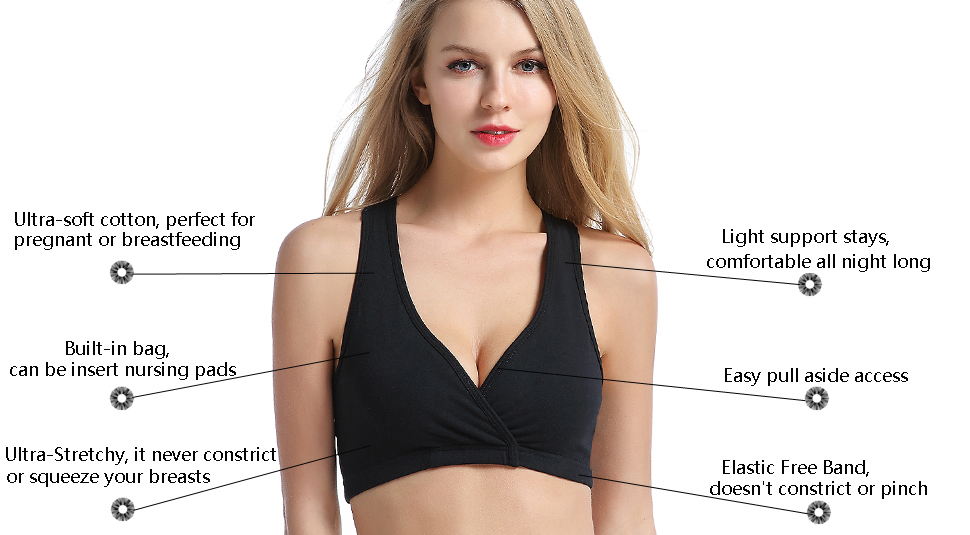 f6adc7caaf3f8b The CAKYE racerback bras is ultra-soft and the ultimate layer of comfort  for pregnant and nursing women.