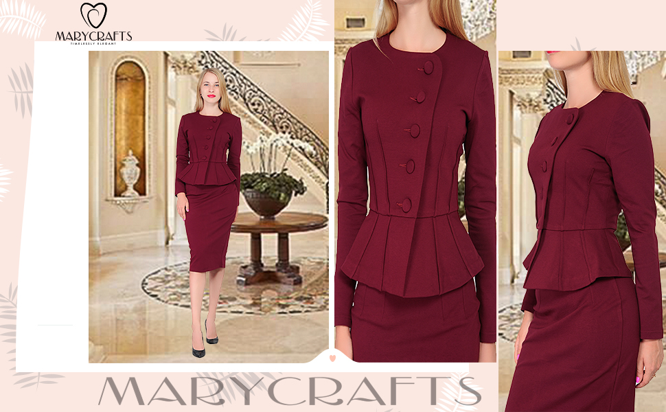 Amazon Marycrafts Womens Formal Office Business Shirt Jacket
