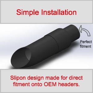OEM Fitment Radiant Cycles shorty GP Exhaust inlet motorcycle muffler slipon pipe