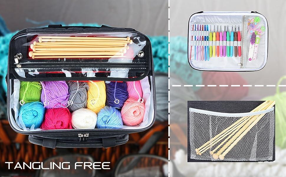 Amazon.com: Hoshin Bolsa de tejer para almacenamiento de ...
