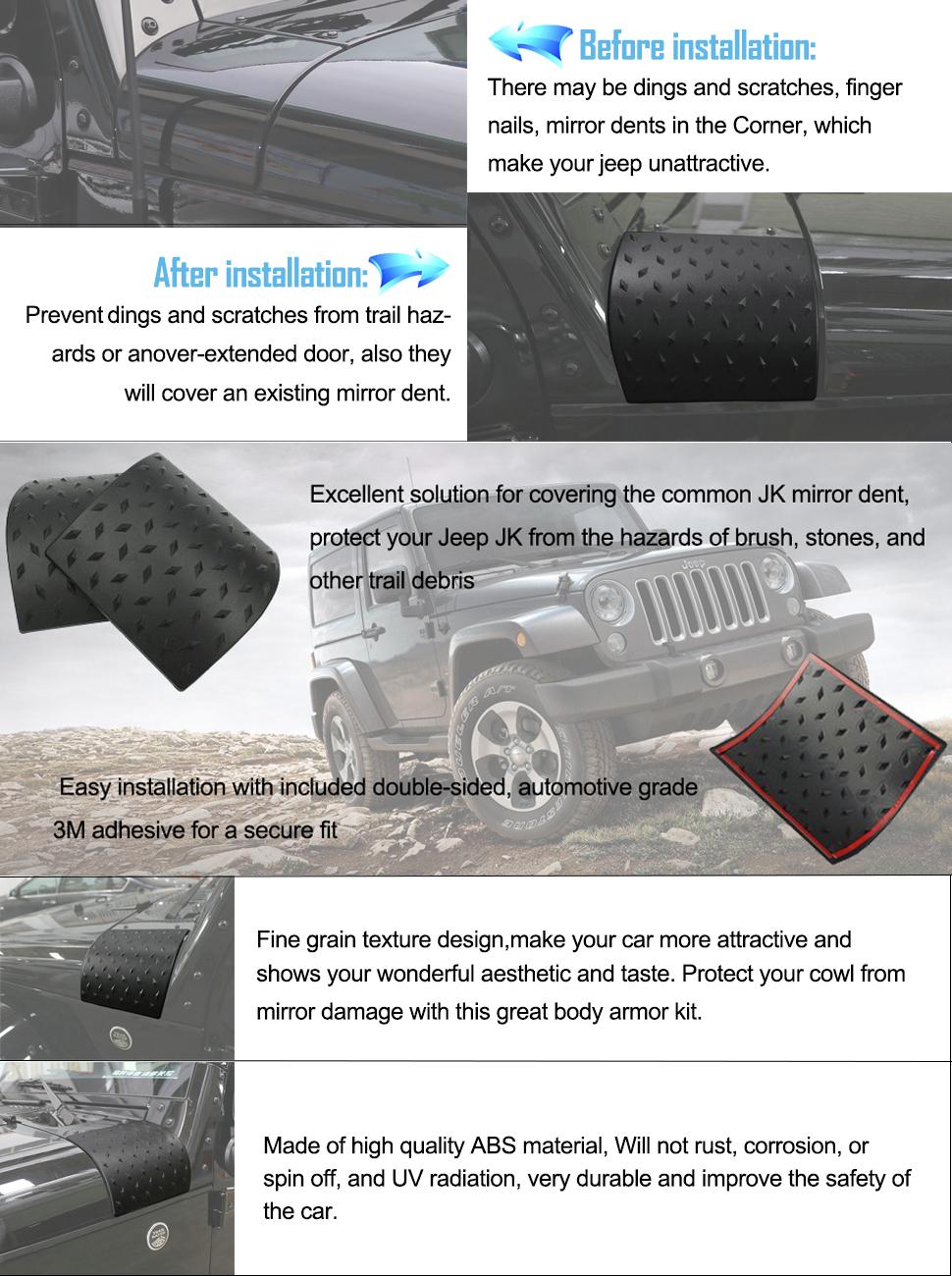 Exterior Car Part Names: Amazon.com: Danti Black Cowl Body Armor Outer Cowling