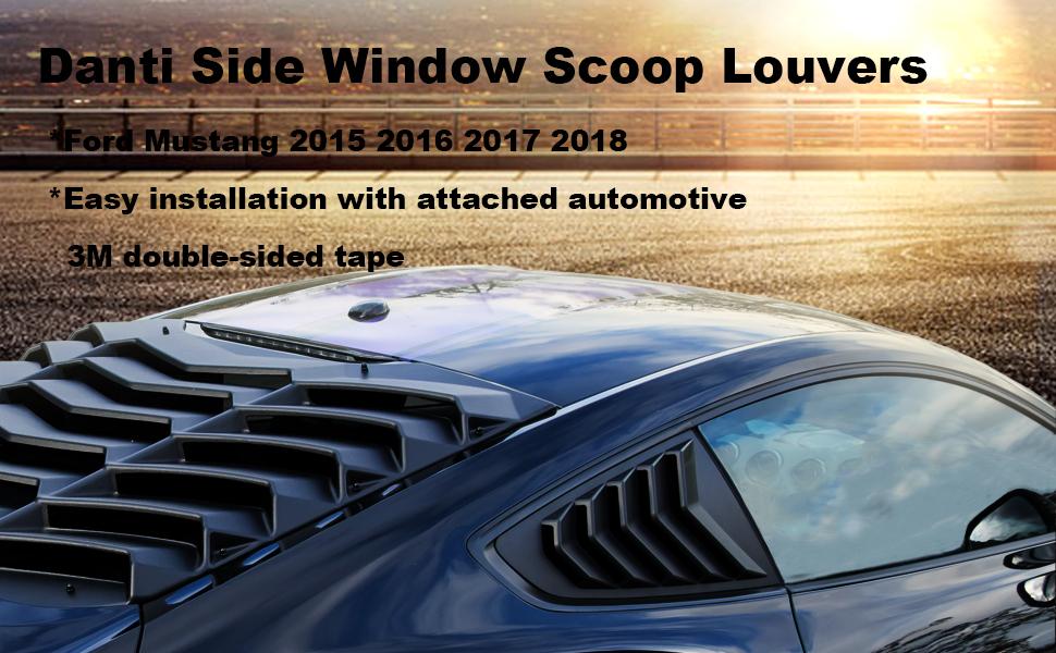 Window Louvers Danti Rear Window Louvers Sun Shade Cover in GT ...