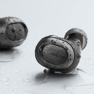 Bluetooth 5.0 Truly-Wireless Earbuds, Easy-Pair Sweatproof Sports Mini Wireless Headphones with Graphene-Enhanced Drivers, Stereo Calls, Built-in Mic, ...
