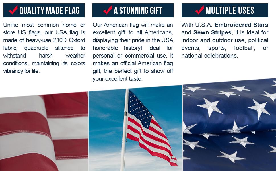 Amazon American Flag 3x5 100 Guarantee Heavy Duty