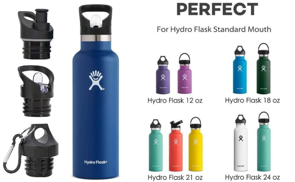 Replacement Lid For Hydro Flask, Simple Modern Ascent Standard Mouth Lid 12 18 21 24OZ Leak Proof