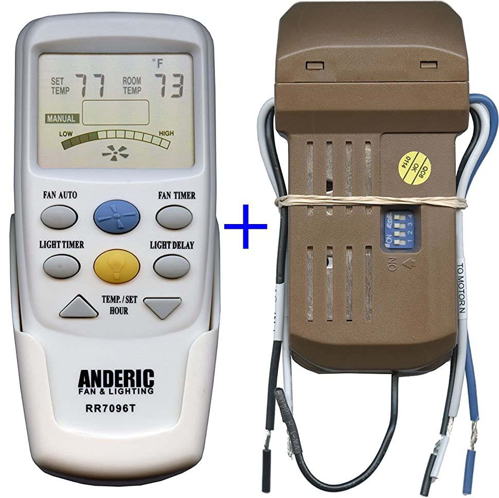 Anderic Add On Universal Ceiling Fan Thermostatic Remote Control Kit