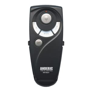 Anderic UC7083T for Hampton Bay Ceiling Fans – Remote Control with Wall Mount Only (Receiver not Included) – Black (Standard (Light, High, Med, Low, Off Keys)) paNkRYNuR3mL