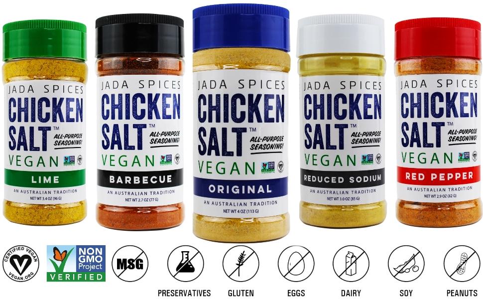 jada spices chicken salt vegan and vegetarian all purpose seasonings