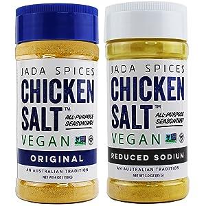 reduced sodium and original vegan chicken salt all purpose seasoning flavors