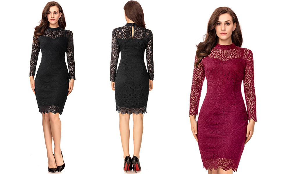 LIKELY Womens Knee-Length Scalloped Cocktail Dress