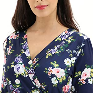 Casual V Neck Floral Mini Dress
