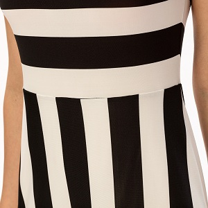 c1f22603b0 Noctflos Women's Summer Casual Black and White Striped Maxi Dress ...