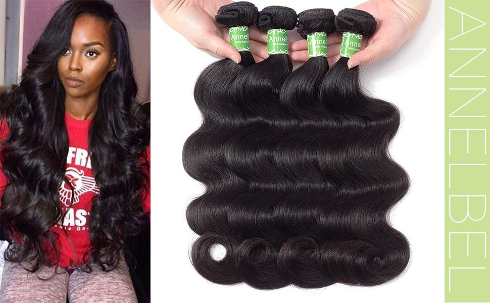 Brazilian Body Wave Human Hair Bundles Weave Hair Human Bundles Brazilian  Virgin Hair For African Americans Women 4 Bundles Total 200g 7oz 6efc54f931
