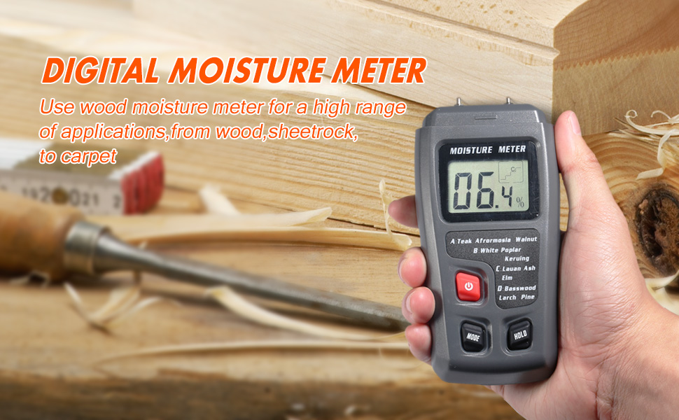 The Dostyle Digital Wood Moisture Meter Is An Essential Tool In Your Home,  It Can Be Used To Measure The Percentage Of Water In Wood, The Measurement  Data ...