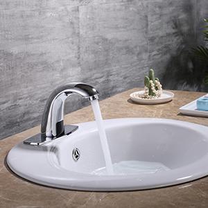 chrome faucet hands free