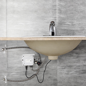 automatic vanity faucet installation